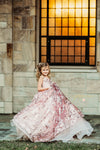 Traveling Rental Dress: The Addison Gown in Pink Shimmer: Size 8, fits sizes 6-9
