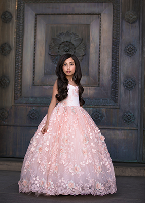 The Aurora Gown in Floral Blush