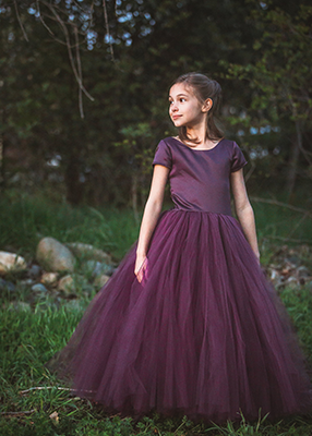 The Sophia Dress: Eggplant