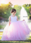 The Ophelia Dress: Lavender Bodice and Light Pink Skirt