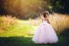 The Grace Dress: Ivory Satin Bodice and Pink/Blush Tulle