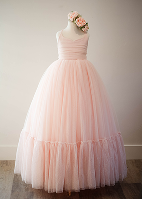 Rent The Clara Gown in Blush - Size 12: fits 8/14