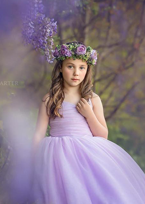 The Leisel Gown - Lavender