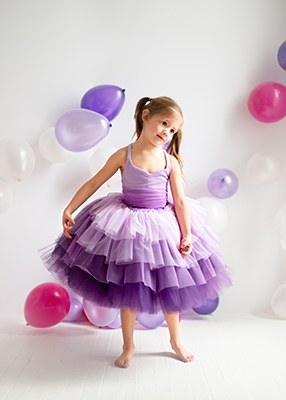 The Cupcake Gown in Purple