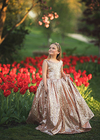 Rent The Juliet Sequin Ball Gown in Rosegold - Size 10: fits 8/12