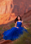 The Seraphina Gown in Cobalt Blue