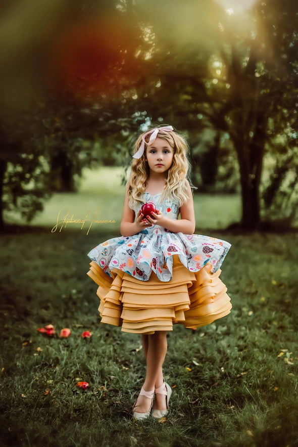 The Vintage Apple Gown - Mustard - shortie style