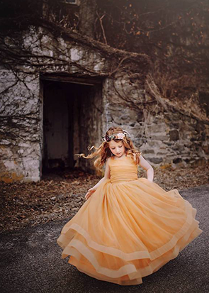 The Genevieve Gown in Mustard