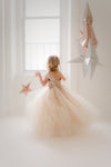 The Juliet Dress: Champagne Sequin Bodice and Champagne Tulle