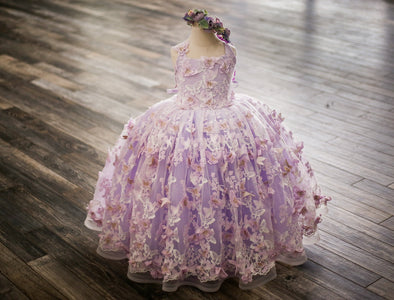 RENT The Mariposa Gown in Lavender: Size 4, fits sizes 3-5