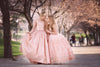 Rosegold Sequin Ball Gown - Juliet Style