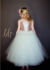 The Grace Dress: Champagne Sequin Bodice and Ivory Tulle