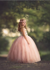 The Grace Dress: Floral Bodice and Blush Tulle