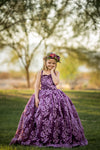 The Brielle Gown in Eggplant