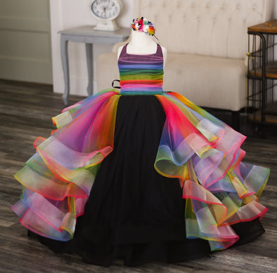 The Traveling Dress Project: The Suki Rainbow Gown: Size 6, fits sizes 4-petite 8