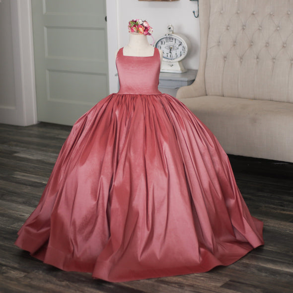 READY to SHIP: The Hadley Gown in RASPBERRY withOUT a Tutu Sewn in!!!