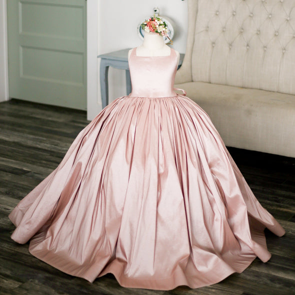READY to SHIP: The Hadley Gown in Dusty Blush withOUT a Tutu Sewn in!!!