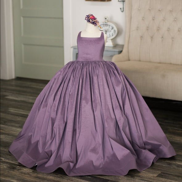 READY to SHIP: The Hadley Gown in DUSTY LAVENDER withOUT a Tutu Sewn in!!!