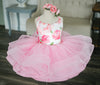 Traveling Rental Dress: The Pink Roses Shortie: Size 5, fits sizes 3-petite 7