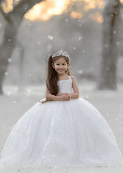 The Traveling Dress Project: The Winter Princess Gown: Size 8, fits sizes 6-10