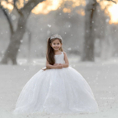 The Traveling Dress Project: The Winter Princess Gown: Size 6, fits sizes 4-petite 8