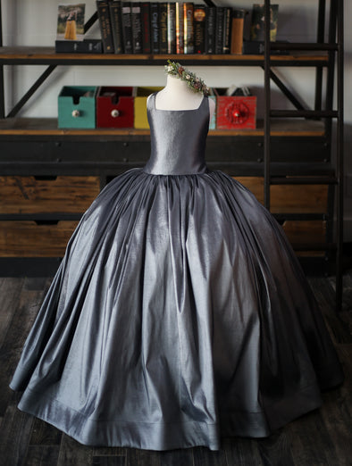 The Hadley Gown in Charcoal