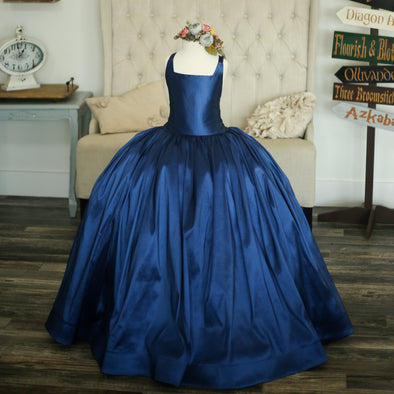 READY to SHIP: The Hadley Gown in Navy withOUT a Tutu Sewn in!!!