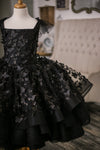 The Traveling Dress Project: The Black Butterfly Gown - Size 12, Below-the-Knee Length. Fits sizes 8-13