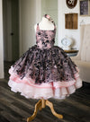 The Traveling Dress Project: The Black Beauty Gown in Midi Length - Size 10, fits size 7-12