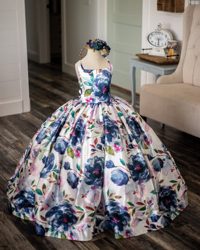 Midnight Blooms Gown