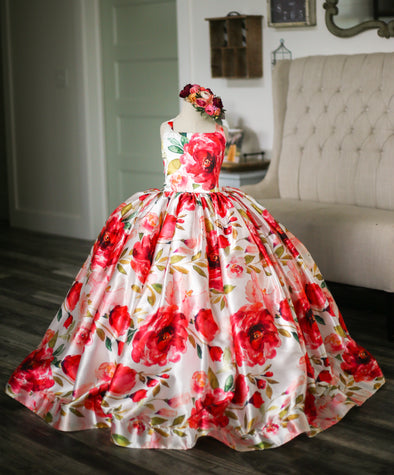 The Traveling Dress Project: The Pink Blooms Gown. Size 8, fits sizes 6-10