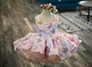 The Traveling Dress Project: The Leila Gown. Size 3, fits 18 months up to slender 5T
