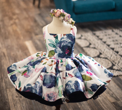 The Traveling Dress Project: The Midnight Blooms: SHORTIE: Size 5, fits sizes 2-7