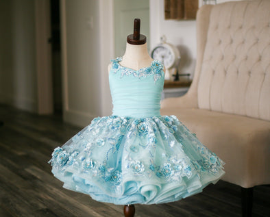 The Traveling Dress Project: The Cherry Blossom Gown in Robin's Egg Blue: Size 8, fits sizes 5-10