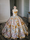 "The Traveling Dress Project: The ""Sunny"" Gown in Vintage Floral: Size 10, fits sizes 7-12"