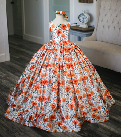 The Traveling Dress Project: The Clementine Gown: Size 10, fits sizes 7-12