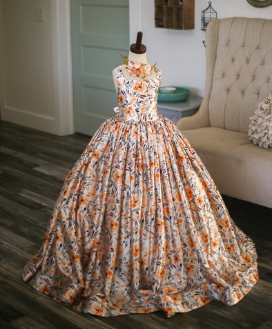 The Traveling Dress Project: The Amber Gown: Size 10 full length, fits sizes 7-12