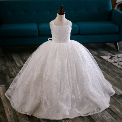 READY to SHIP - The Winter Princess Gown: WITH a tutu sewn-in
