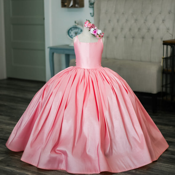 The Traveling Dress Project: The Pink Hadley Gown: Size 14 full length: fits sizes 10-14