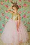 The Juliet Dress: Gold Sequin Bodice and Pink Tulle