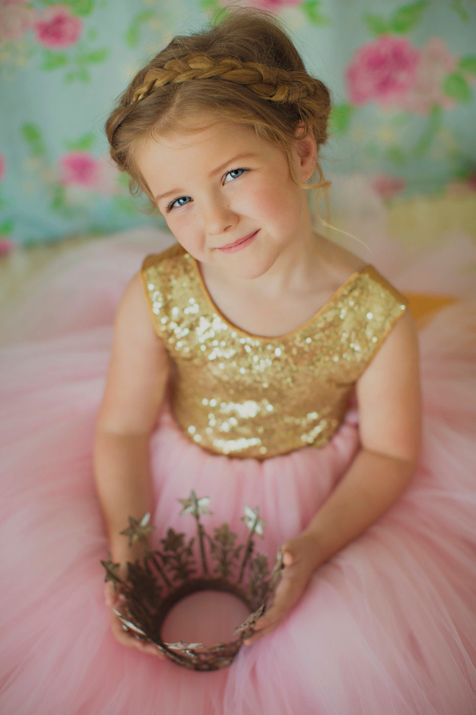 ad7f4b90 The Juliet Dress: Gold Sequin Bodice and Pink Tulle – Little ...