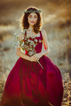 RENT The Hadley Gown in Burgundy: Size 6, fits sizes 4-8