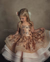 The Traveling Dress Project: The Copper Rose Gown - Size 6/7, fits 4-8