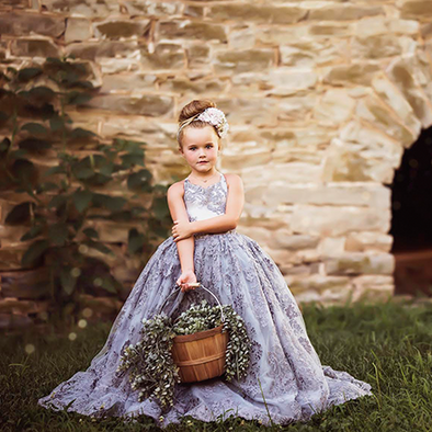 SALE!!!!! LAST ONES!! RTS: The Asher Gown in GREY withOUT a Tutu