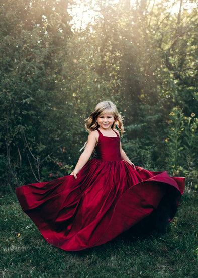 READY to SHIP - The Hadley Gown in Red withOUT a Tutu Sewn in!!!