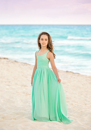 The Danielle Dress: Minty Aqua