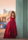 Rent The Dahlia Gown in Burgundy - Size 7: fits 5-9