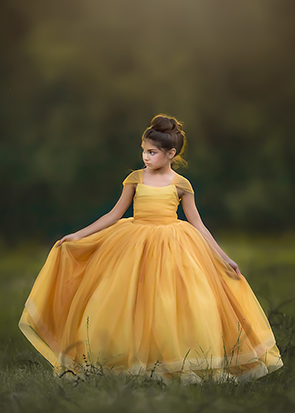 The Genevieve Gown in Goldenrod