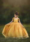 Rent The Genevieve Gown in Mustard - Size 6: fits 5/7