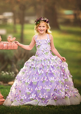 Rent The Lorelai Gown in Lavender and Light Pink: size 10, fits 7-12yrs